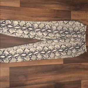 Gianni Bini Snake print pants